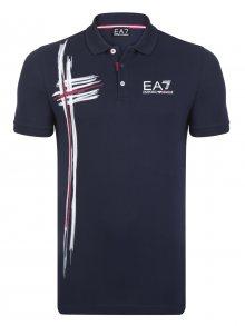 Tmavě modro-bílá luxusní polokošile od Emporio Armani Size: S