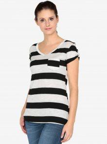 Krémovo-černé tričko s krátkým rukávem Haily´s Helen