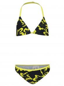 Žluto-černé holčičí květované bikiny name it Zummer