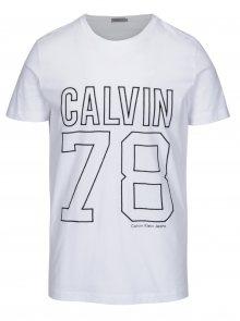 Bílé pánské tričko s výšivkou Calvin Klein Jeans Timball