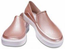 Crocs metalické pudrové slip-on boty Citilane Roca Metallic Rose Dust