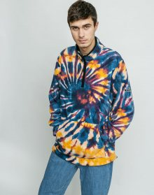 Stussy Tie Dye Polar Fleece Mock MULTI M