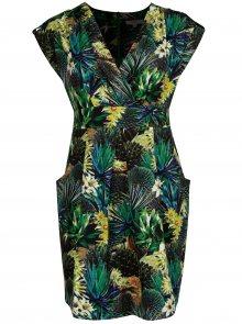 Tmavě zelené šaty s květinovým vzorem La Lemon