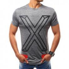 Pánské tričko s potiskem antracitové