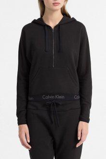 Calvin Klein černá dámská mikina Half Zip Hoodie