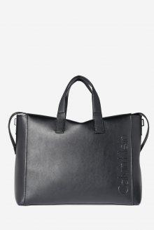 Calvin Klein černá cestovní taška Elevated Logo Weekend