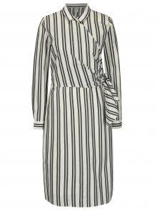 Šedo-krémové košilové šaty Selected Femme Evelyn