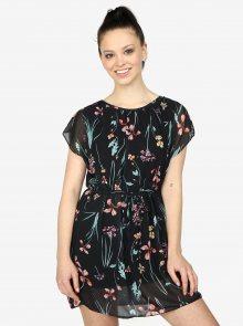 Černé květované šaty Haily\'s Anne