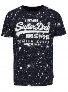 Tmavě modré pánské tričko s potiskem Superdry