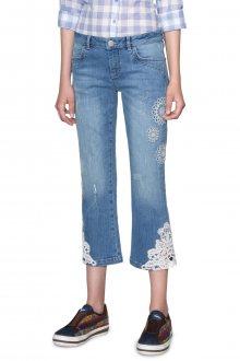 Desigual modré džíny s krajkou Survive