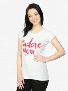 Bílé tričko s potiskem Haily\'s Tamina