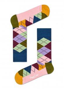 Happy Socks barevné ponožky s károvaným vzorem Argyle - 36-40