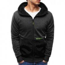 Pánská moderní bunda s kapucí černá