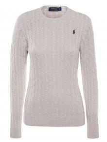 Béžový prémiový svetr s ornamentem od Ralph Lauren Size: S