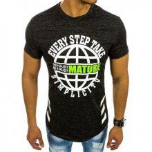 Pánské tričko s potiskem grafitová