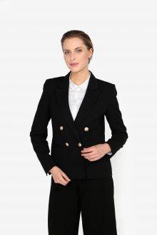Černé sako s knoflíky ve zlaté barvě Miss Selfridge
