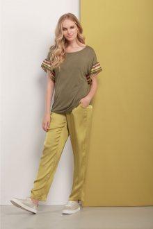 Deha zelené saténové kalhoty