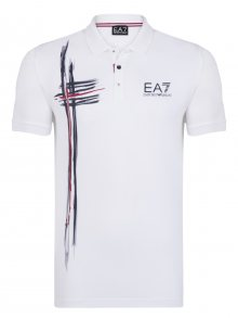 Bílo-černá luxusní polokošile od Emporio Armani Size: S