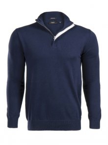 Tmavě modrý prémiový svetr na zip od Hugo Boss Size: S