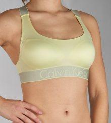 Calvin Klein žlutá podprsenka Bralette Lightly Lined
