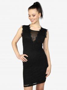 Černé krajkové šaty s průstřihem na zádech Haily\'s Ruby