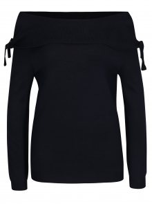 Tmavě modrý svetr s lodičkovým výstřihem Dorothy Perkins