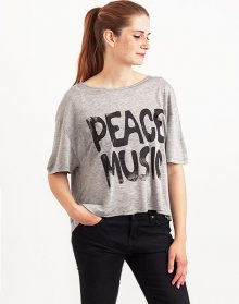 Somedays Lovin Peace Music Frill Back GREY MARLE M