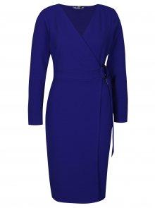 Modré pouzdrové zavinovací šaty Dorothy Perkins