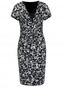 Krémovo-modré šaty s květovaným vzorem Smashed Lemon