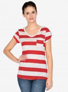Krémovo-červené tričko s krátkým rukávem Haily´s Helen
