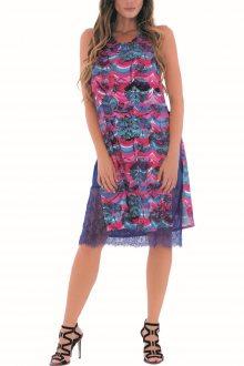 Culito from Spain barevné šaty Ondes Malvas con Cinto - XS