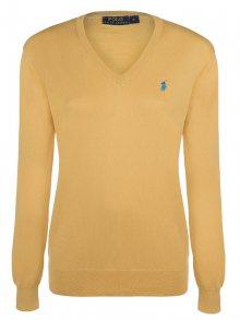 Žluto-modrý prémiový svetr od Ralph Lauren Size: M
