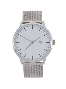 Unisex hodinky ve stříbrné barvě s nerezovým páskem CHPO Nando Silver