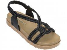 Melissa černé sandály Cosmic Sandal+Salina Beige/Black