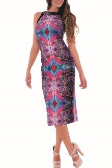 Culito from Spain barevné šaty Abstracto Negro