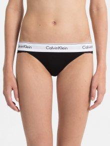 Calvin Klein černá krajková tanga s leopardím motivem