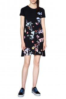Desigual splývavé šaty Cicero s květy - S