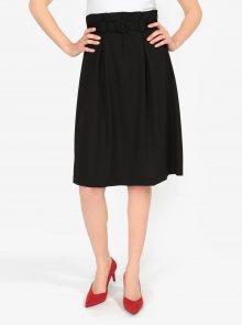 Černá áčková sukně s páskem VERO MODA Emmy