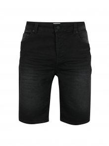 Černé džínové kraťasy s vyšisovaným efektem ONLY & SONS Bull