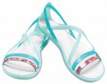 Crocs zelenkavé sandály Isabella Cut Grph Strappy New Mint/Oyster