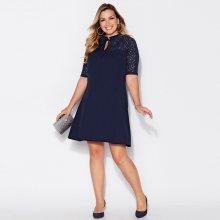 Venca Rozšířené šaty se 3/4 rukávy námořnická modrá 42