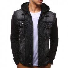 Džínsová pánská bunda černá