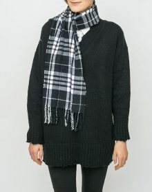 Cheap Monday City Scarf Check BLACK/WHITE