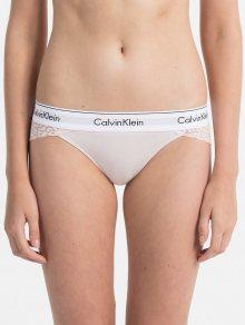 Calvin Klein růžové krajkové kalhotky s leopardím motivem