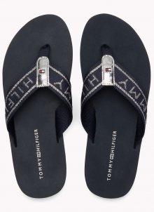 Tommy Hilfiger tmavě modré žabky Flexible Essential Beach Sandal Midnight - 36