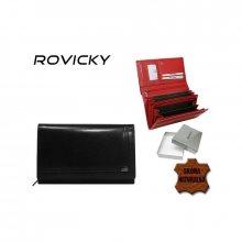 Kožená dámská peněženka v luxusní černé barvě