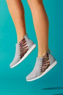 Emu šedé kožené boty Melina Dove Grey - 37
