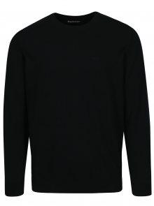 Tmavě modrý svetr s výšivkou Barbour Pima