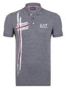 Šedo-bílá luxusní polokošile od Emporio Armani Size: S
