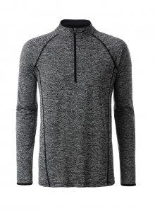 Pánské sportovní tričko JN - Tmavě šedý melír L